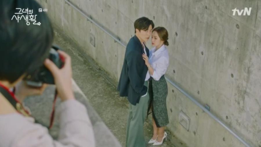 Sướng như Park Min Young, có chủ tịch mặt ngầu đeo tai thỏ làm người tình bình phong trong Her Private Life - Ảnh 2.