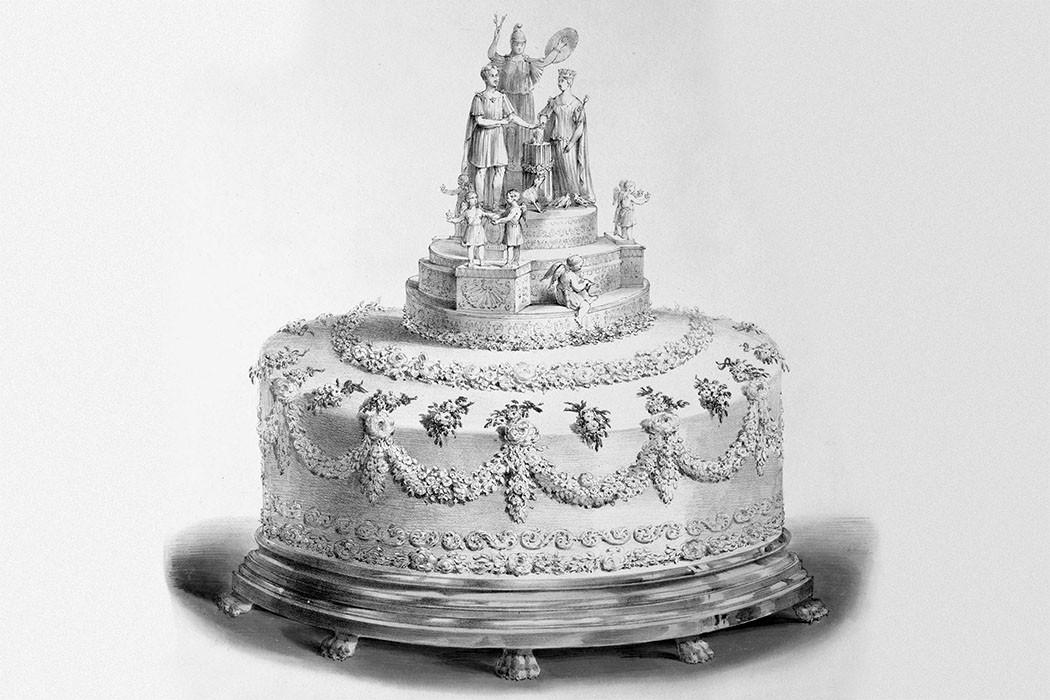 Xa hoa bánh cưới hoàng gia Anh qua từng thời kì, có chiếc lấy cảm hứng từ nhà thờ Notre-Dame - Ảnh 1.