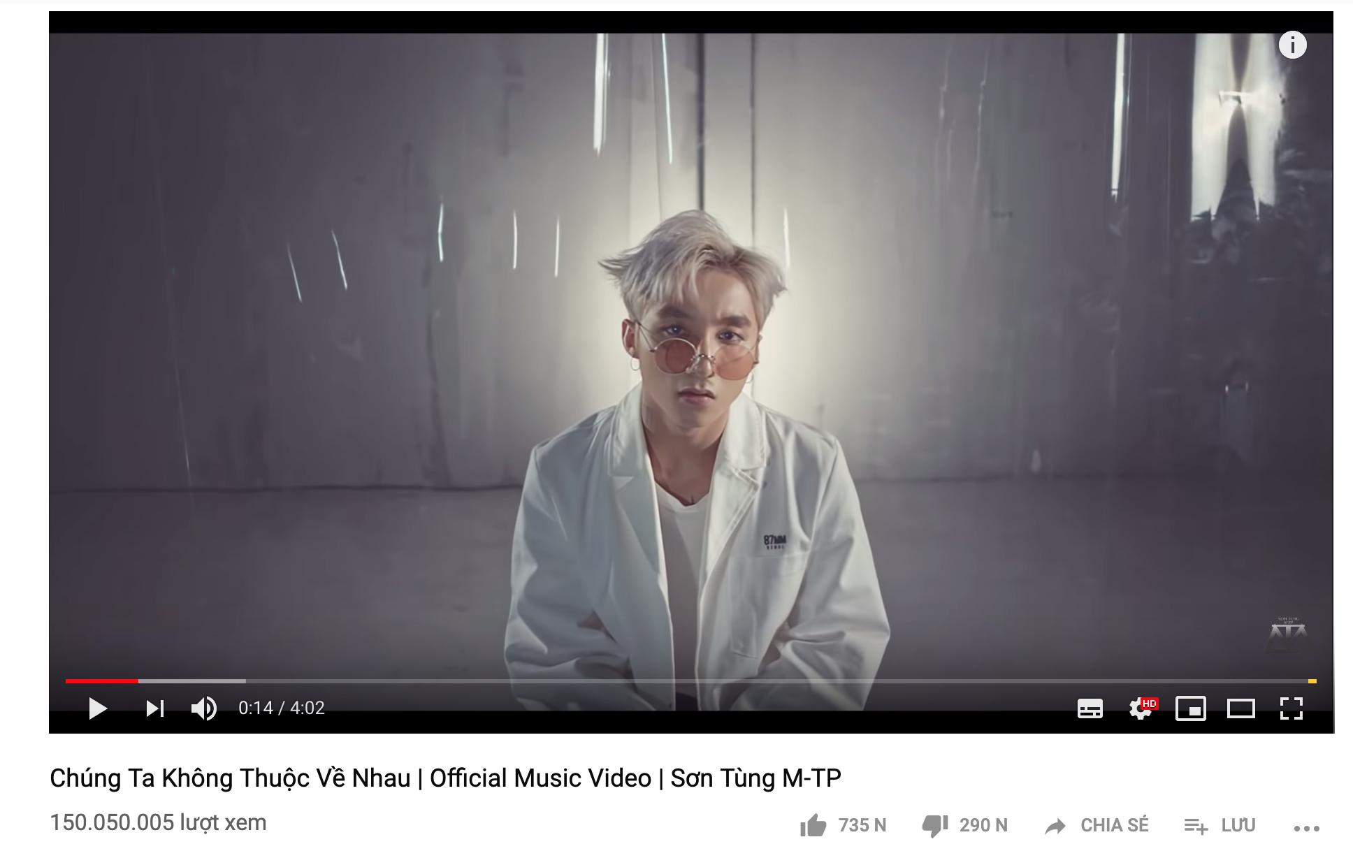 Tiếp tục có sản phẩm đạt 150 triệu view, đây là nghệ sĩ Vpop duy nhất sở hữu cùng lúc 3 MV cán mốc khủng thế này! - Ảnh 1.