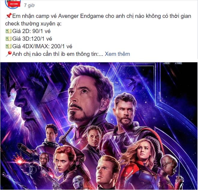 Nở rộ dịch vụ nhận đặt vé Avengers: Endgame ăn chênh, hàng chợ đen đắt gấp 3 lần - Ảnh 3.