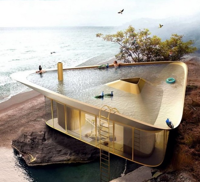 Cần gì phải ra biển tắm khi bạn có thể ngụp lặn ngay trên nóc nhà với ý tưởng thiết kế độc lạ này - Ảnh 5.