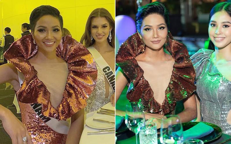 Áp dụng chiêu cũ tại Miss Universe, HHen Niê trội bật hơn hẳn Tiểu Vy trong một khung hình - Ảnh 6.