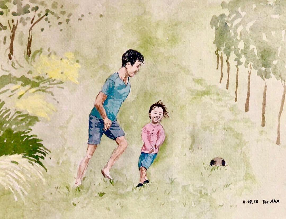 Trang Instagram đặc biệt của ông bà cụ xa xứ: Hàng ngày vẽ tranh để nhắn nhủ với 3 người cháu ở bên kia đại dương - Ảnh 13.