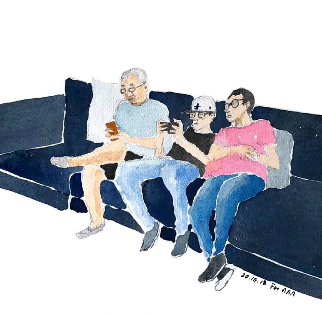 Trang Instagram đặc biệt của ông bà cụ xa xứ: Hàng ngày vẽ tranh để nhắn nhủ với 3 người cháu ở bên kia đại dương - Ảnh 11.