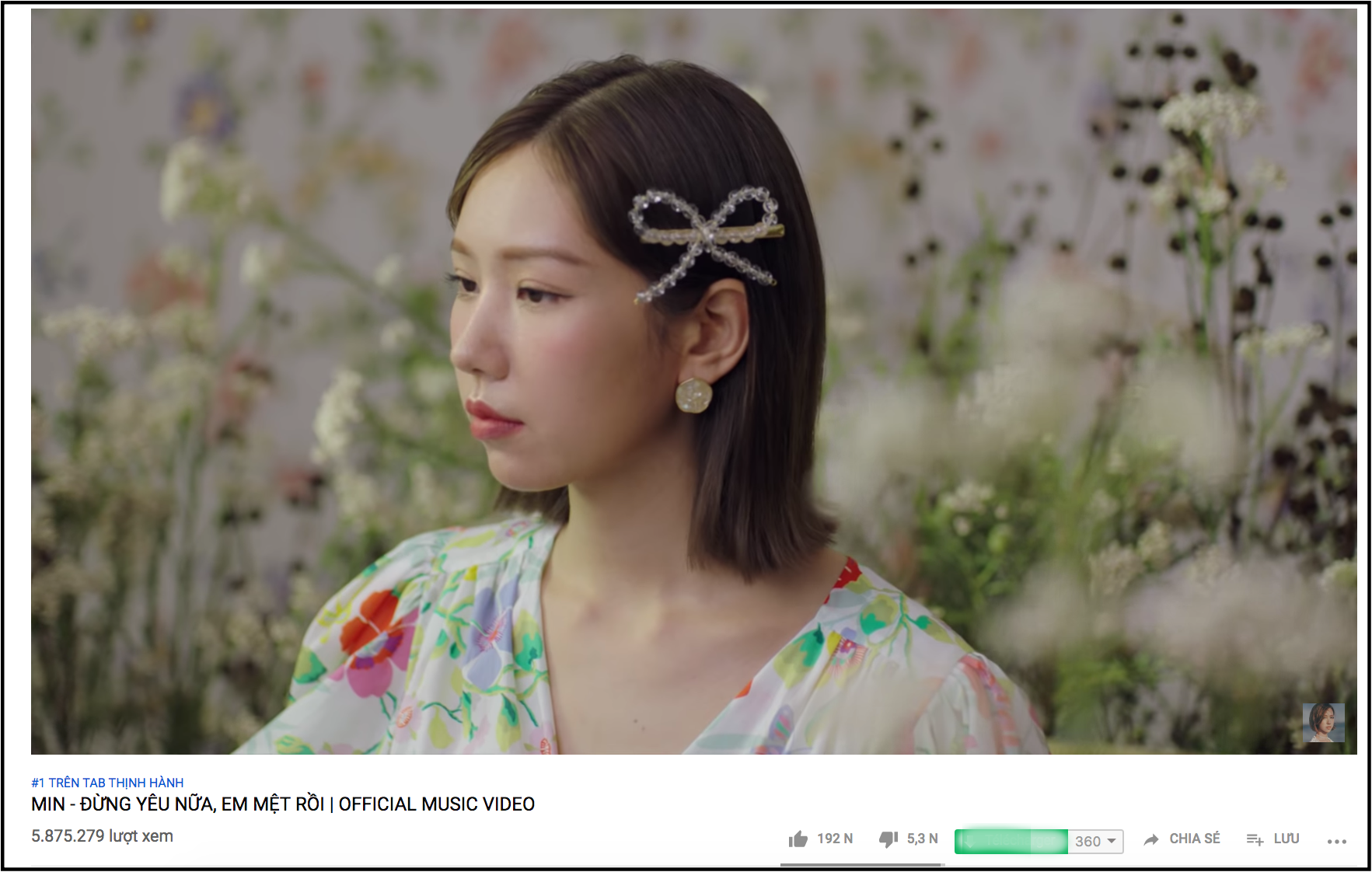 """Mặc nghi vấn đạo nhái, """"Đừng yêu nữa, em mệt rồi"""" của Min leo thẳng Top 1 Trending sau 2 ngày ra mắt - Ảnh 1."""