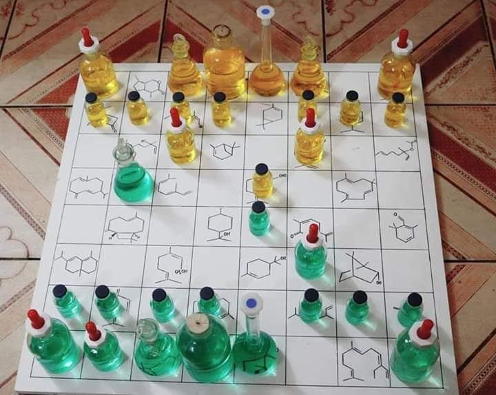 Chiếc bàn cờ độc nhất vô nhị của dân chuyên Hoá, cuồng học đến mức chơi cũng phải gắn liền với chai lọ thí nghiệm - Ảnh 1.