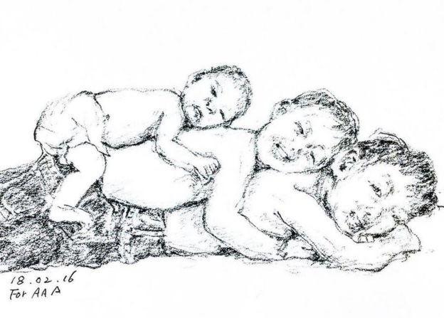 Trang Instagram đặc biệt của ông bà cụ xa xứ: Hàng ngày vẽ tranh để nhắn nhủ với 3 người cháu ở bên kia đại dương - Ảnh 2.