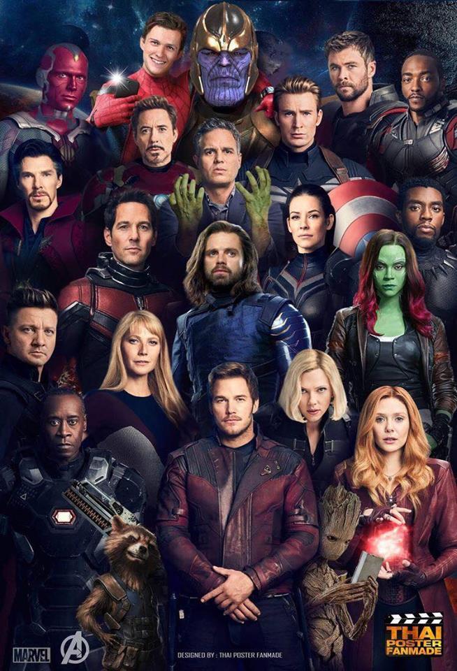 Cười rụng rốn cảnh Spider-Man chụp selfie với Thanos, Iron Man ôm Cap trong vòng tay, Thor và Captain Marvel trao nhau ánh nhìn đắm đuối! - Ảnh 1.