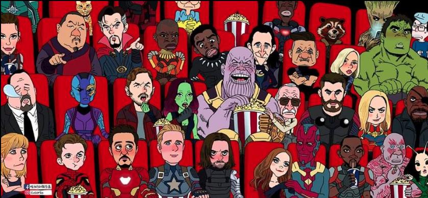 Cười rụng rốn cảnh Spider-Man chụp selfie với Thanos, Iron Man ôm Cap trong vòng tay, Thor và Captain Marvel trao nhau ánh nhìn đắm đuối! - Ảnh 12.