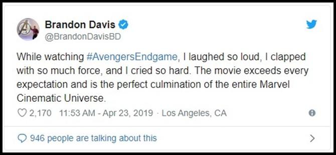 Những khán giả đầu tiên xem Endgame bật khóc: Phim bom tấn đỉnh cao nhất, xúc động nhất từ trước tới nay! - Ảnh 2.