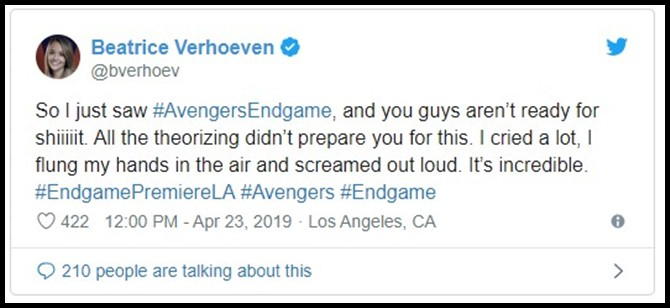 Những khán giả đầu tiên xem Endgame bật khóc: Phim bom tấn đỉnh cao nhất, xúc động nhất từ trước tới nay! - Ảnh 9.