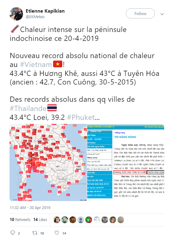 Báo Mỹ công bố đợt nắng nóng tại Việt Nam đã lập kỷ lục mọi thời kỳ, nhưng có thể sẽ nóng hơn nữa trong thời gian tới - Ảnh 2.