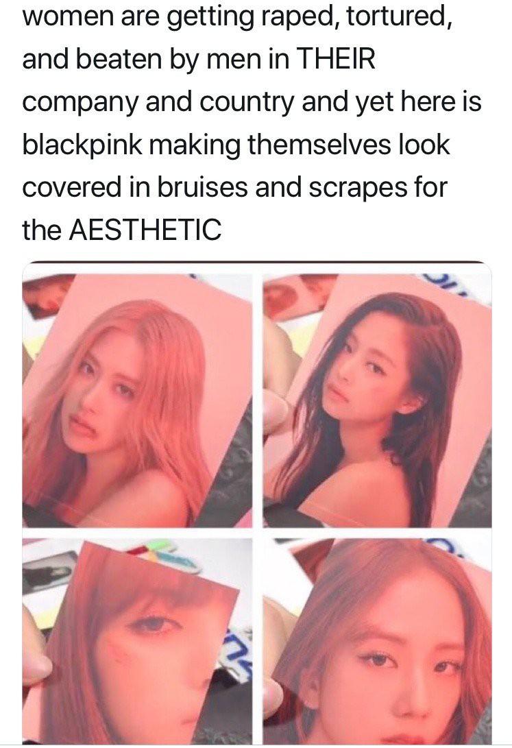 Black Pink dính phốt: Fan quốc tế phẫn nộ tố nhóm biến hình ảnh bạo hành phụ nữ thành công cụ quảng bá - Ảnh 3.