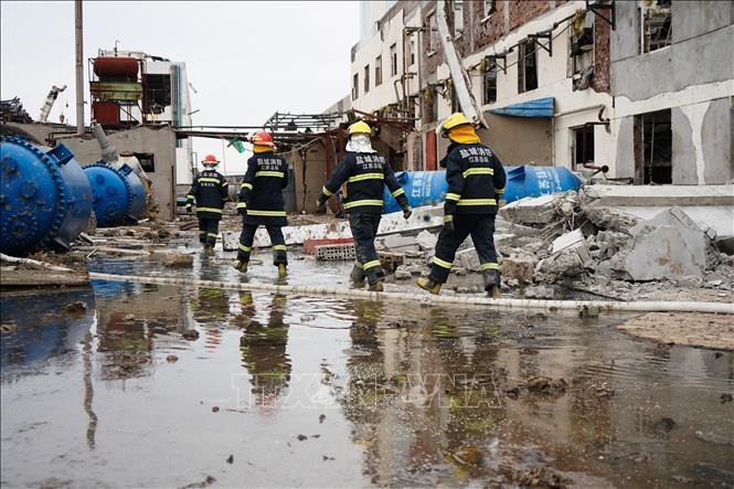 Lại nổ nhà máy hóa chất ở Trung Quốc, ít nhất 39 người thương vong - Ảnh 1.