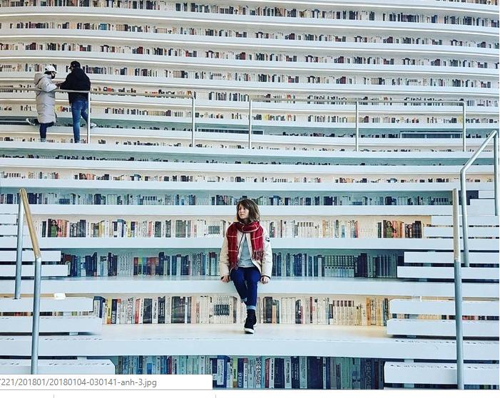 Choáng ngợp với vẻ đẹp của thư viện quốc dân lớn nhất Trung Quốc được check in rầm rộ - Ảnh 4.