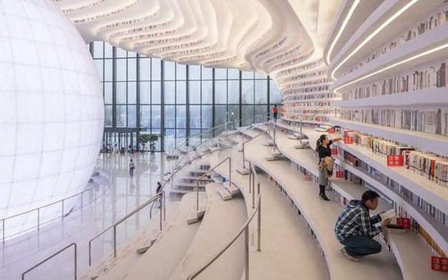 Choáng ngợp với vẻ đẹp của thư viện quốc dân lớn nhất Trung Quốc được check in rầm rộ - Ảnh 6.