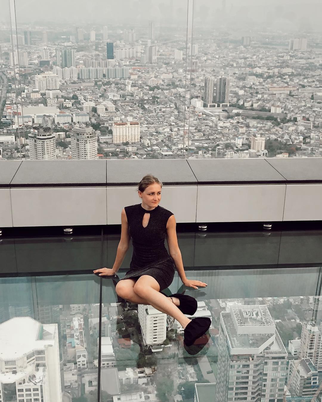 Dân tình hốt hoảng với sàn kính cao ở độ cao trên 300m ngắm trọn cảnh thủ đô Bangkok - Ảnh 5.