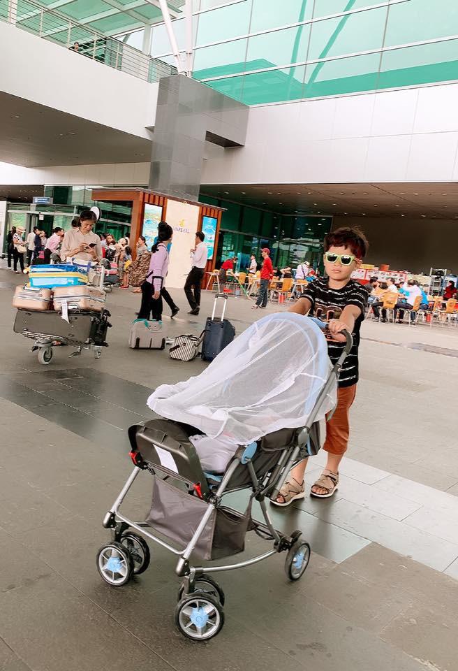 Sao Việt tranh thủ kì nghỉ lễ để đưa hoàng tử, công chúa đi tránh nắng, hào hứng nhất phải kể đến bé thứ 2 - Ảnh 9.