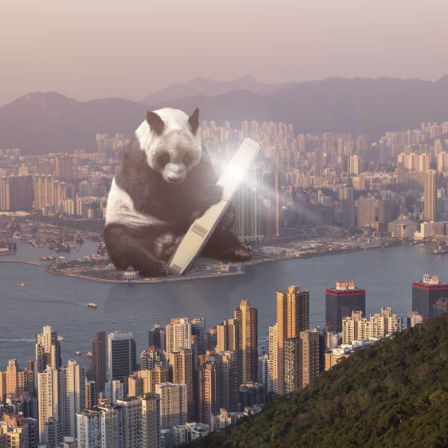 Chiêm ngưỡng một Hồng Kông ảo lòi qua con mắt của nghệ sĩ siêu thực - Ảnh 10.