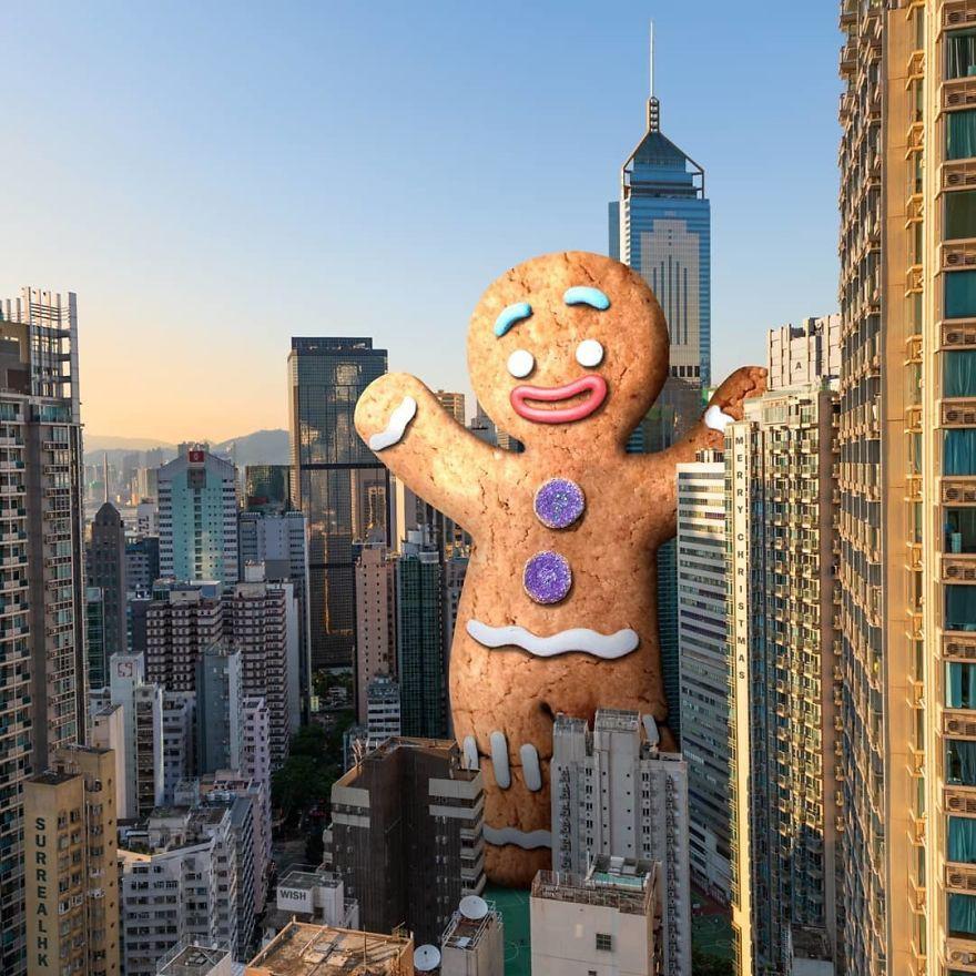 Chiêm ngưỡng một Hồng Kông ảo lòi qua con mắt của nghệ sĩ siêu thực - Ảnh 13.