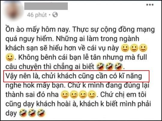 Khách sạn 5 sao ở Hà Nội phản hồi việc nữ nhân viên nói chửi khách cũng cần kỹ năng và muốn đấm vào mặt Khoa Pug - Ảnh 1.