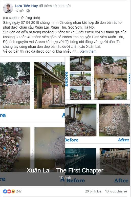 Chuyện đau đầu của Thử thách dọn rác: Bục mặt 4 tiếng dọn sạch chân cầu Xuân Lai, đến chiều người dân lại... vứt rác - Ảnh 2.