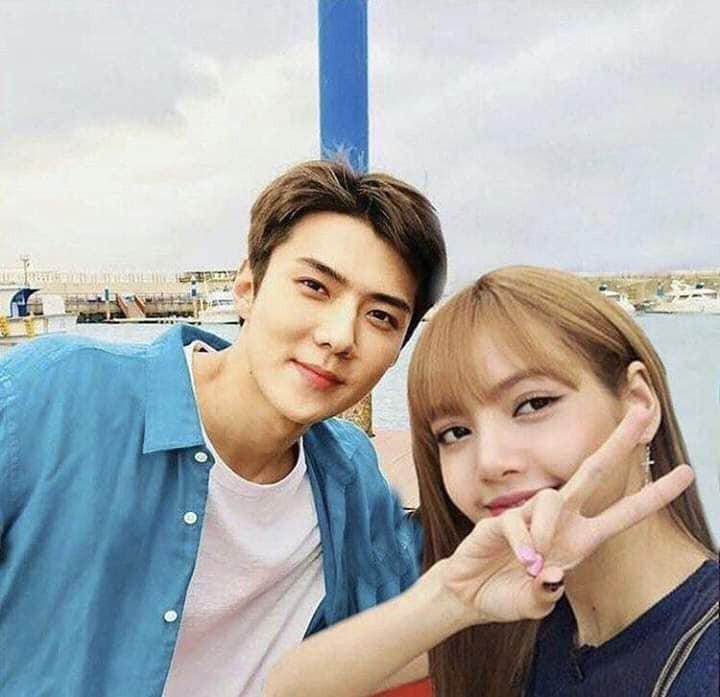 Trình độ công nghệ shipper ngày càng khủng, Sehun (EXO) và Lisa (BLACKPINK) được hẹn hò nhau trong trí tưởng tượng - Ảnh 1.