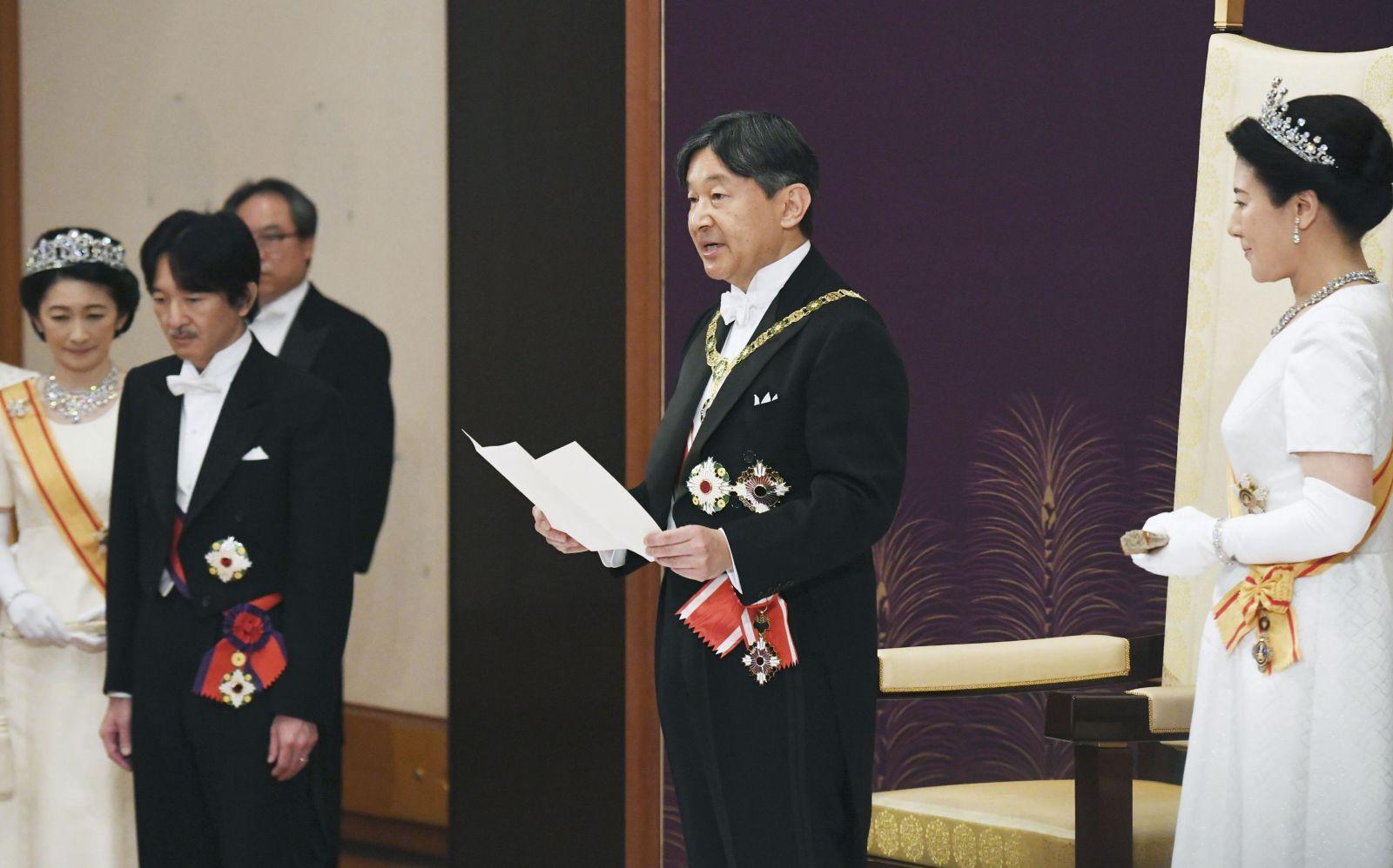 Ảnh: Thủ đô Tokyo náo nhiệt, trang nghiêm và đẹp như tranh vẽ trong ngày đầu tiên dưới thời Lệnh Hòa - Ảnh 3.
