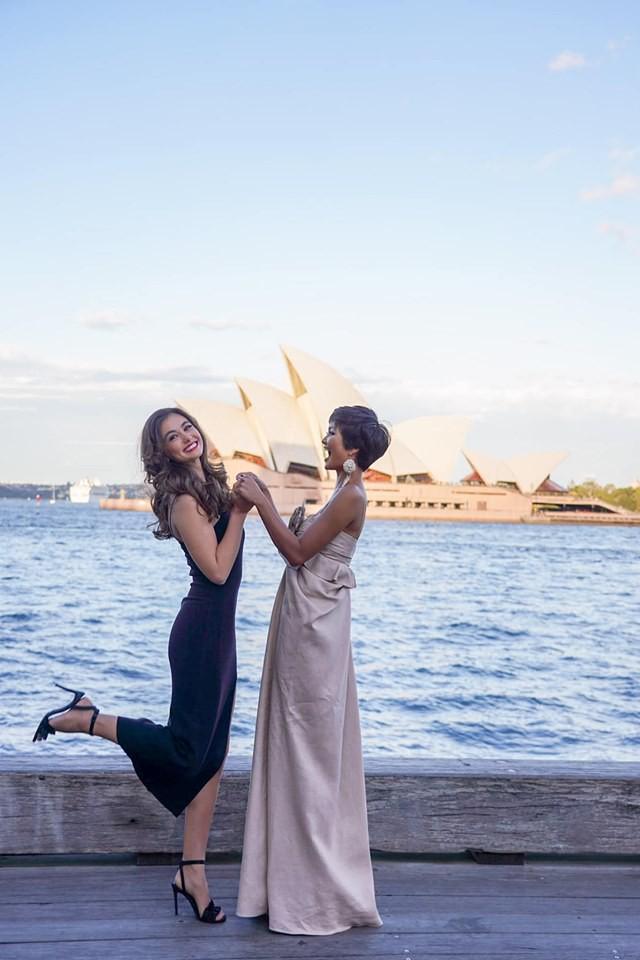 Đối thủ một thời tại Miss Universe 2018 gặp lại HHen Niê trên đất Úc, bất ngờ với câu nói đầu tiên thốt lên? - Ảnh 4.