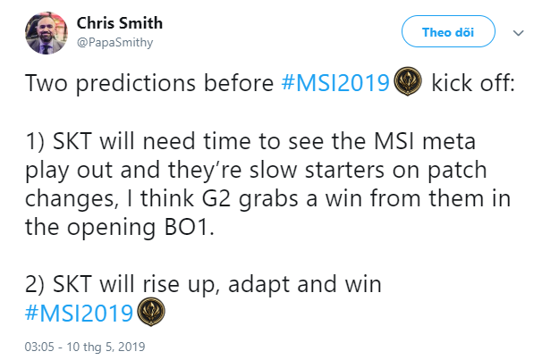 LMHT: Thất bại của Faker trong trận mở màn MSI 2019 đã được dự đoán từ trước bởi chính bình luận viên LCK - Ảnh 1.