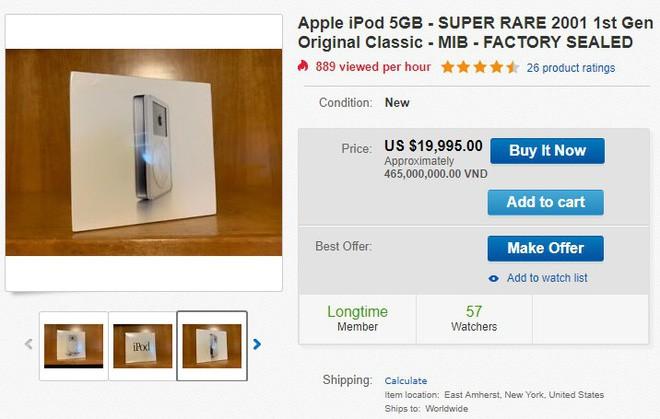 iPod đời đầu còn nguyên seal được rao bán với giá 465 triệu đồng - Ảnh 1.
