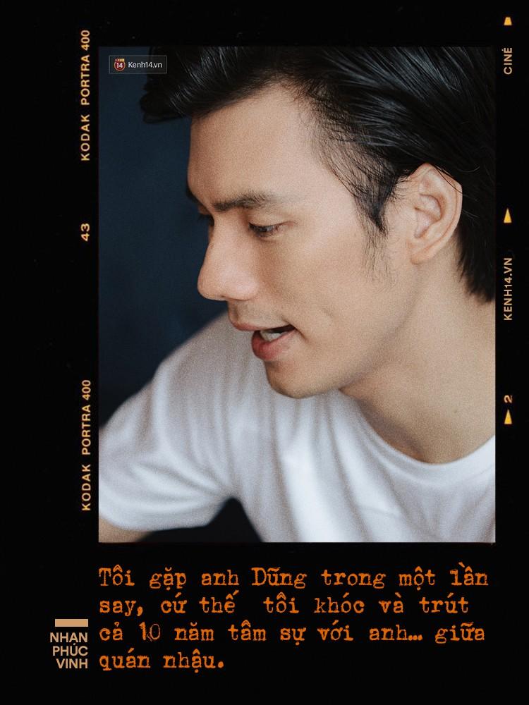 Nhan Phúc Vinh ám ảnh biến cố 10 năm với đạo diễn Nguyễn Quang Dũng: Tôi khóc như mưa ngay giữa quán nhậu - Ảnh 3.