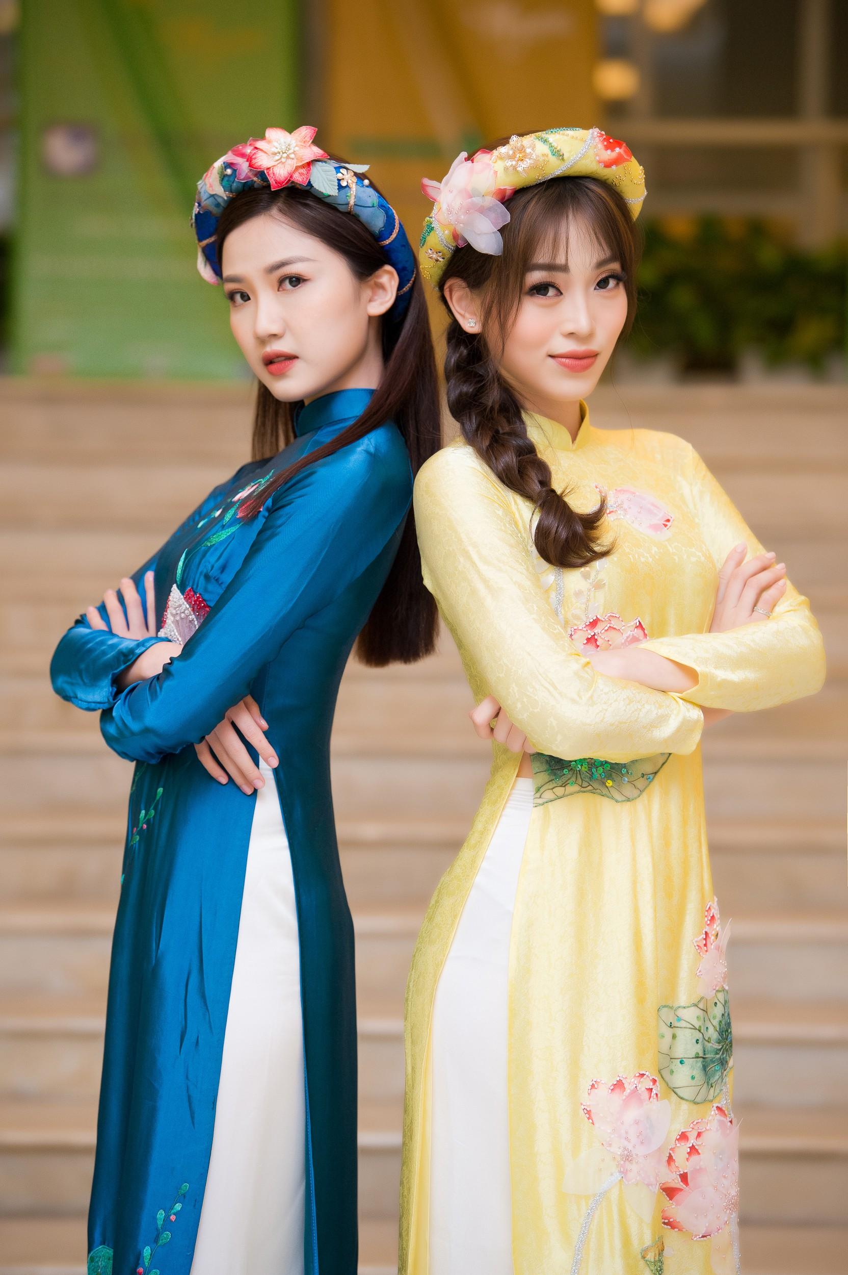 Phương Nga diện áo dài nền nã, thân thiết khi đụng độ bạn gái màn ảnh của Bình An - Ảnh 5.