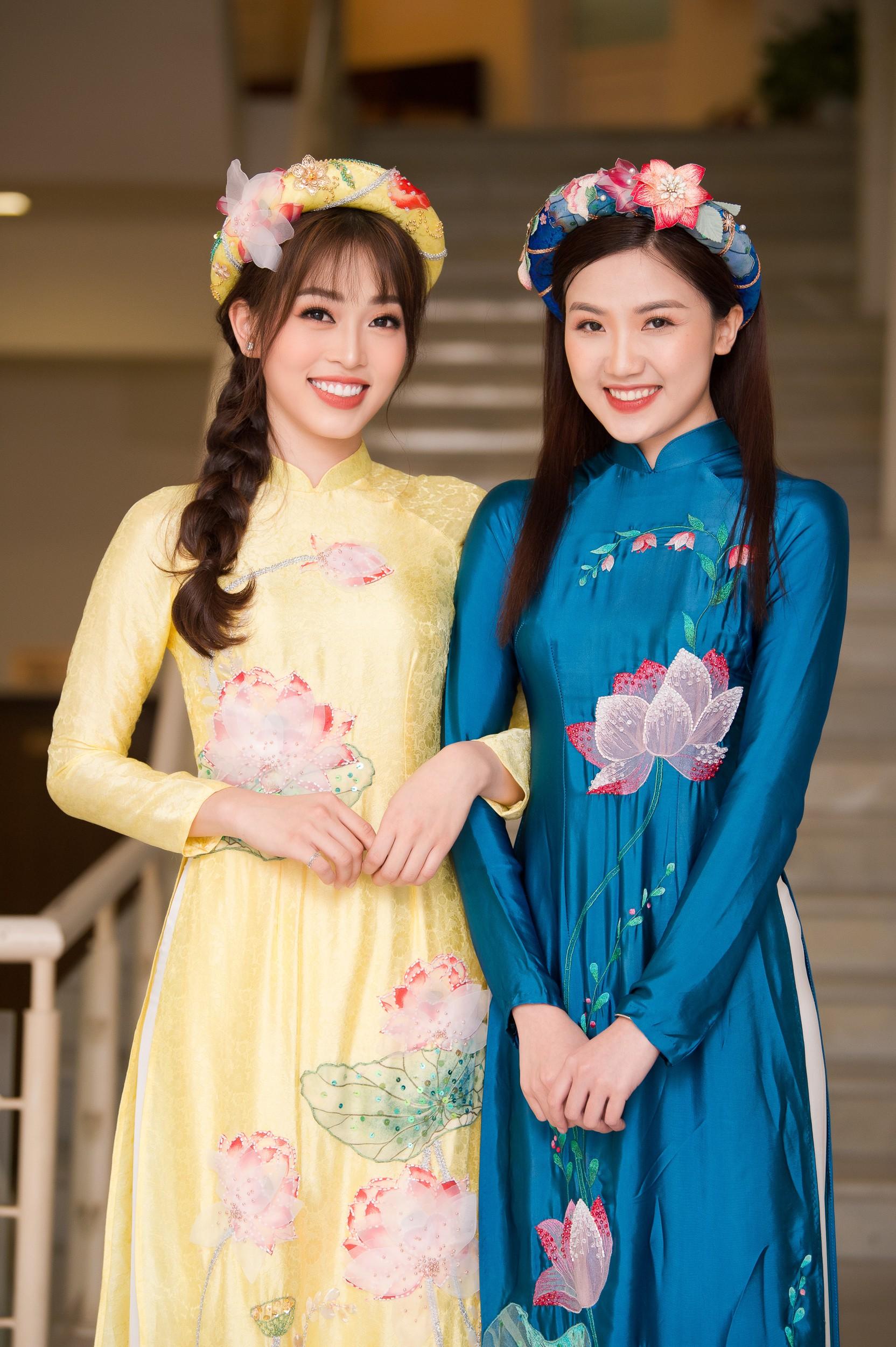 Phương Nga diện áo dài nền nã, thân thiết khi đụng độ bạn gái màn ảnh của Bình An - Ảnh 4.