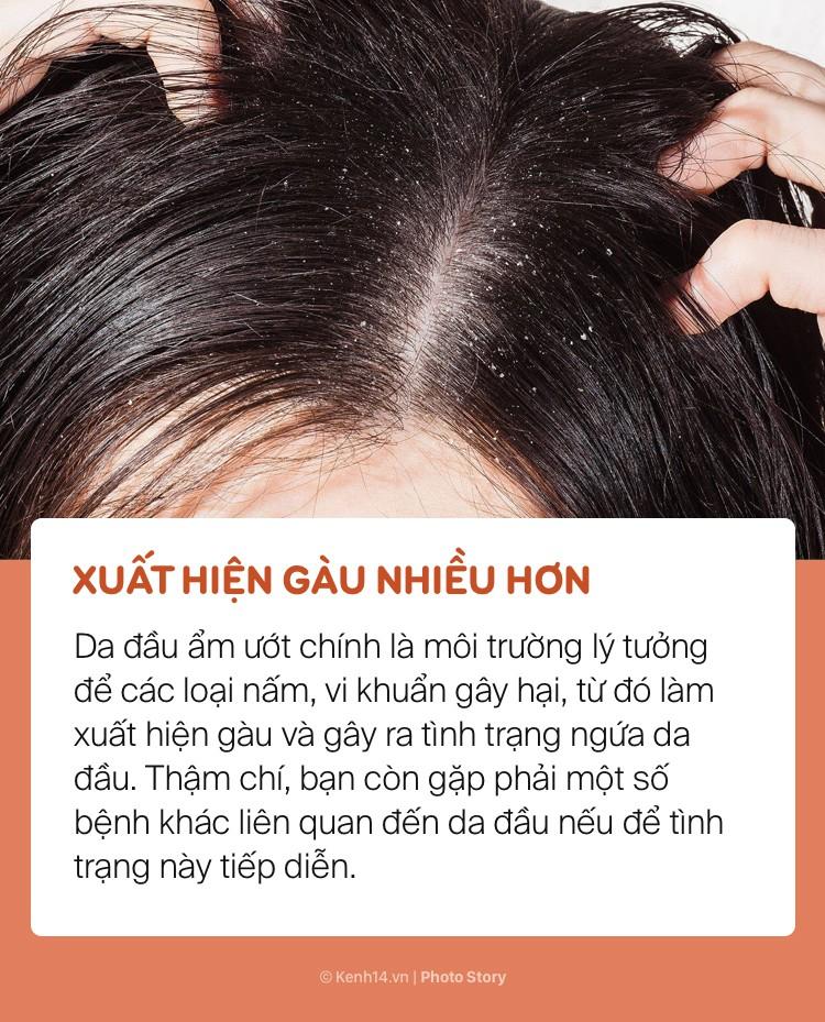 Bất chấp để tóc ướt đi ngủ, bạn sẽ có nguy cơ gặp phải những vấn đề sức khoẻ này - Ảnh 7.