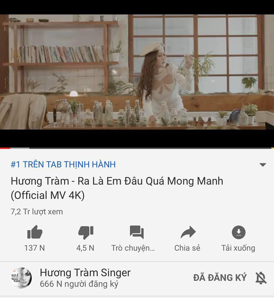 Sau 4 ngày ra mắt, MV cuối cùng của Hương Tràm trước khi tạm dừng ca hát chính thức lên top 1 trending Youtube - Ảnh 2.