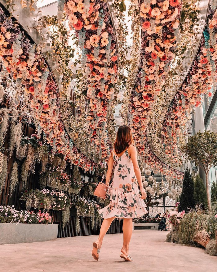 """Sau Jewel Changi, Singapore lại có thêm """"kỳ quan"""" vườn hoa treo khổng lồ khiến dân tình phải ngước lên """"mỏi cả cổ"""" để ngắm nhìn - Ảnh 5."""