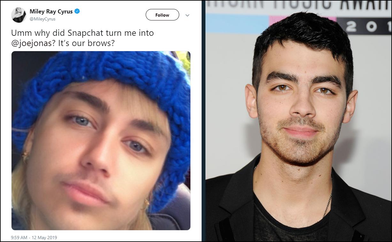 1001 chuyện chơi filter chuyển giới: Miley Cyrus lột xác thành Joe Jonas với combo mày râu chất ngầu - Ảnh 10.