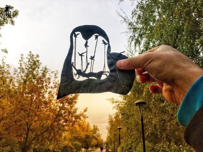 Lá rụng thường bị tống vào thùng rác, lá rụng ở Kazakhstan lại biến thành cả bầu trời nghệ thuật Photo-1-1557766610224103939083