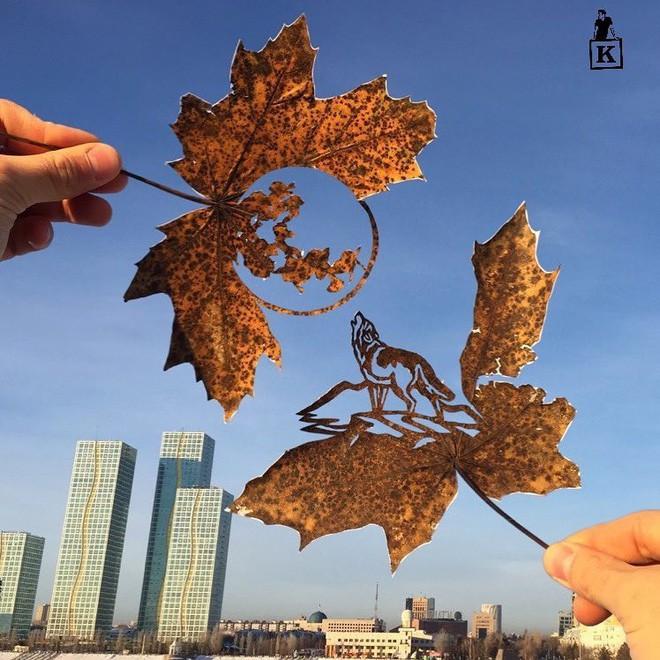 Lá rụng thường bị tống vào thùng rác, lá rụng ở Kazakhstan lại biến thành cả bầu trời nghệ thuật Photo-10-1557766610248213595539