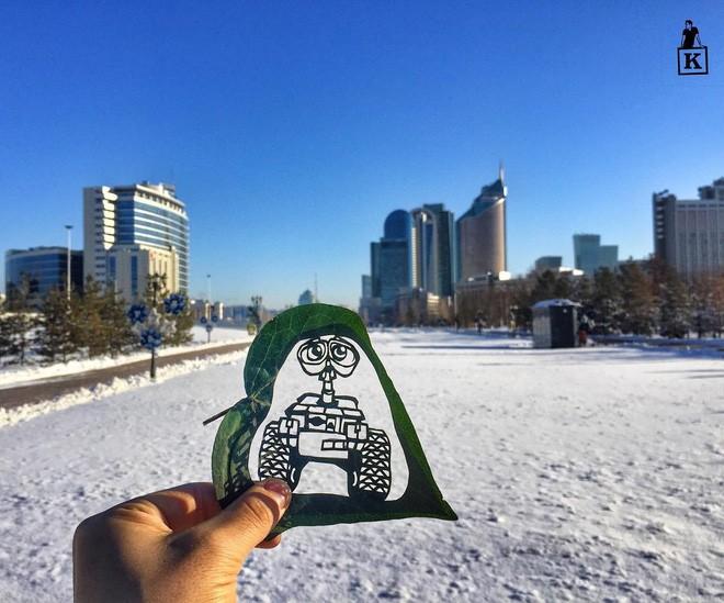 Lá rụng thường bị tống vào thùng rác, lá rụng ở Kazakhstan lại biến thành cả bầu trời nghệ thuật Photo-17-1557766610260208637892