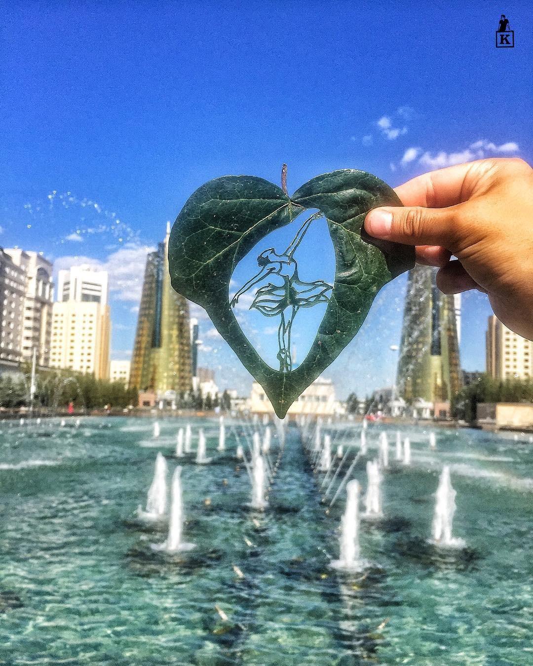 Lá rụng thường bị tống vào thùng rác, lá rụng ở Kazakhstan lại biến thành cả bầu trời nghệ thuật Photo-2-1557766610228898256202