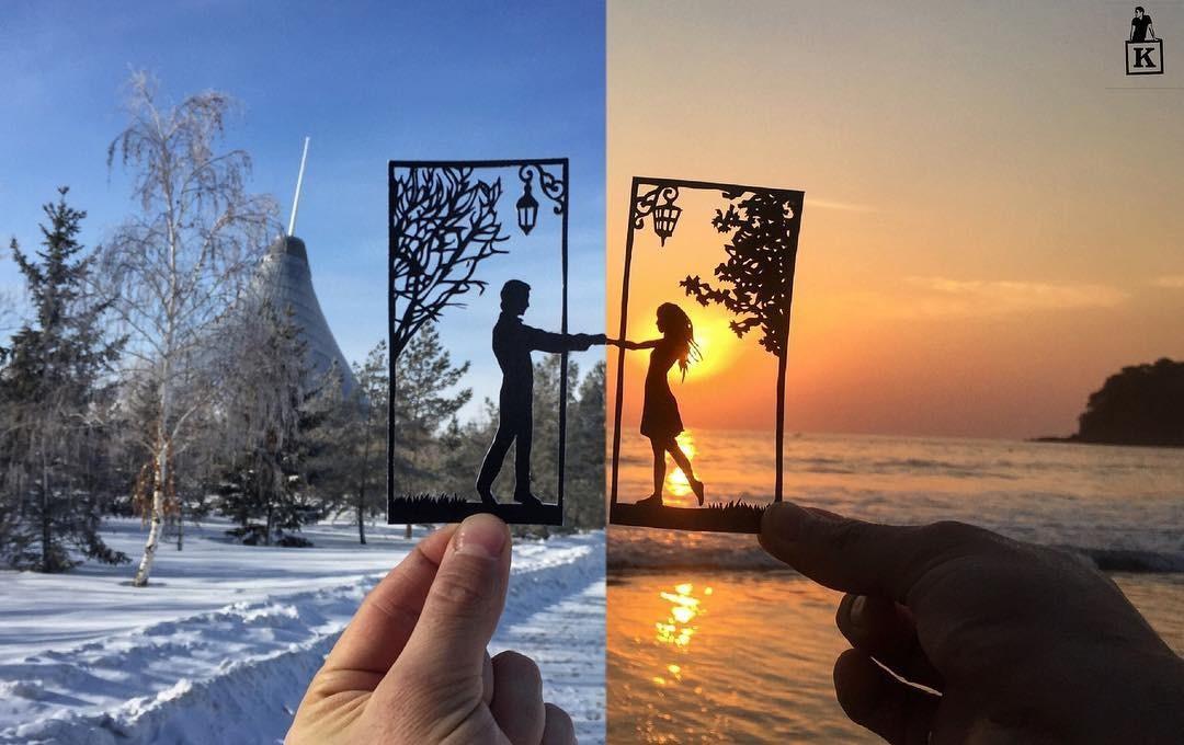 Lá rụng thường bị tống vào thùng rác, lá rụng ở Kazakhstan lại biến thành cả bầu trời nghệ thuật Photo-4-15577666102321235126094