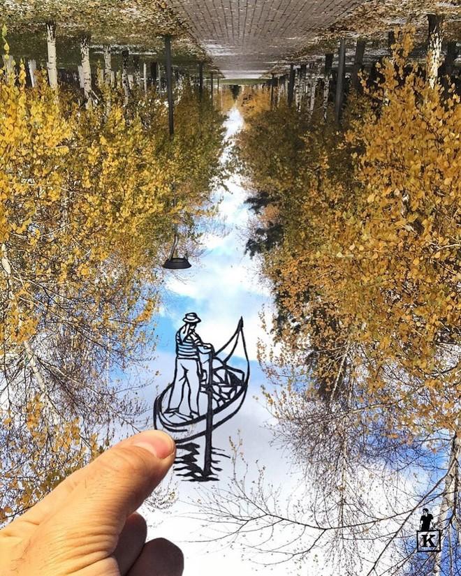 Lá rụng thường bị tống vào thùng rác, lá rụng ở Kazakhstan lại biến thành cả bầu trời nghệ thuật Photo-9-1557766610243539058040