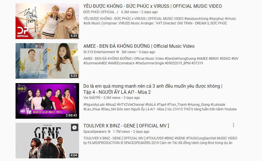 Bị chê một màu, MV mới của Binz vẫn vươn đến top 5 trending, đối đầu Amee và Đức Phúc - Ảnh 4.