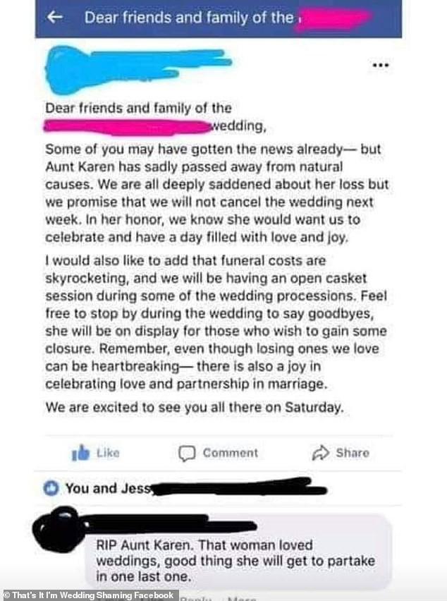 Cô dâu định tổ chức kết hợp tang lễ của dì với ngày cưới cho tiết kiệm chi phí nhưng bị dân mạng chỉ trích gay gắt - Ảnh 1.