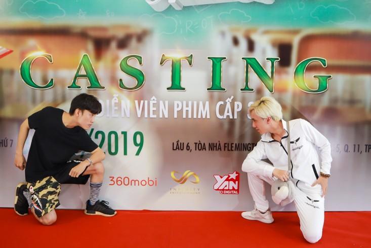 Tronie Ngô, Củ Tỏi hào hứng đến tham dự buổi casting Phim Cấp 3 phần 9 do Ginô Tống làm đạo diễn - Ảnh 6.