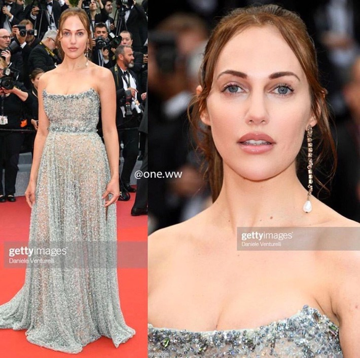 Ngay ngày khai mạc LHP Cannes 2019 đã có một người đẹp vô danh lộ nguyên cả bàn tọa trước bàn dân thiên hạ - Ảnh 2.