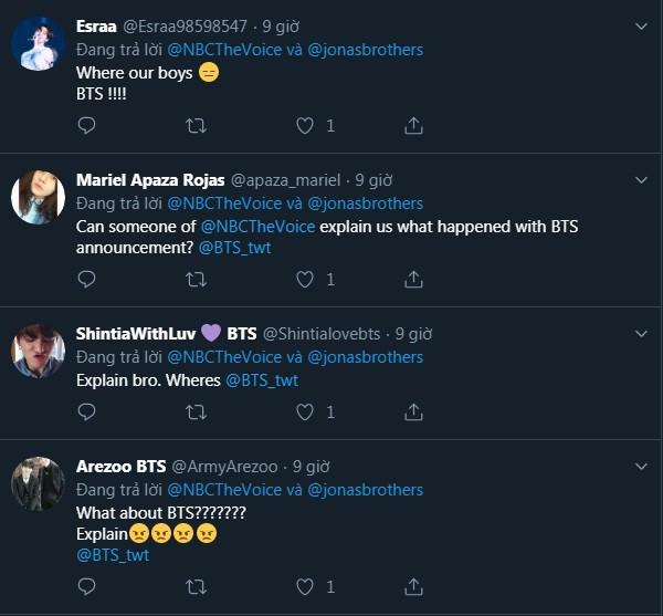 Fan nổi đóa tấn công The Voice Mỹ, đòi giải thích về sự biến mất bí ẩn của BTS - Ảnh 5.