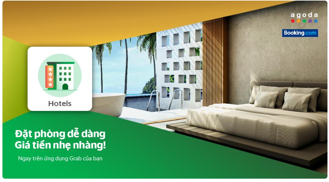 Đã có thể đặt phòng khách sạn tại Agoda và Booking.com trực tiếp trên ứng dụng Grab - Ảnh 1.